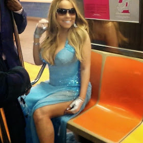 MARIAH CAREY RIDES THE PUBLIC SUBWAY: