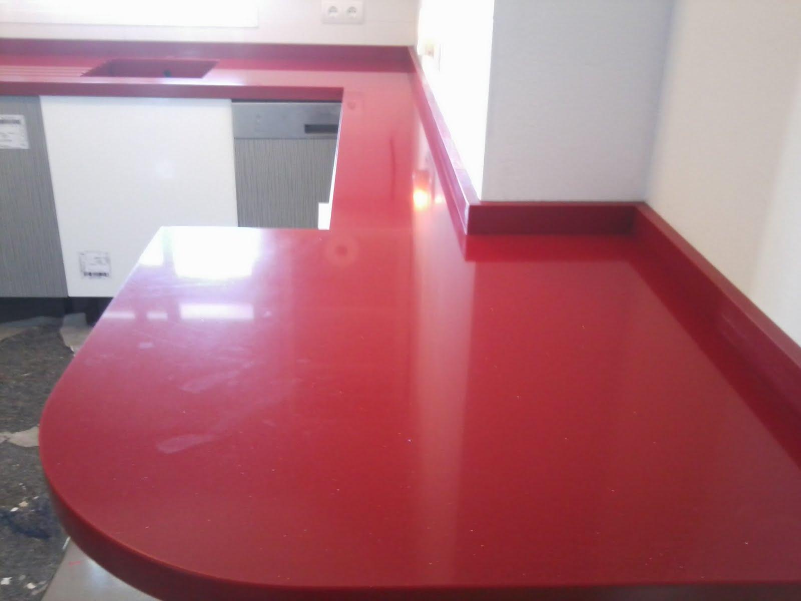Piedralia global s l encimera de cocina en compac rojo for Encimeras de cocina compac