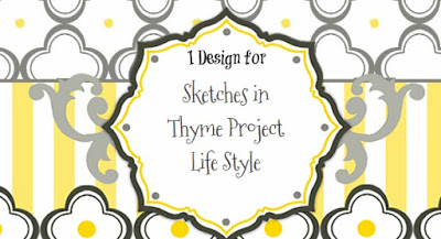 I design for Sketches in Thyme Project Life Style