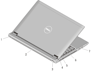 back view laptop dell vostro 131