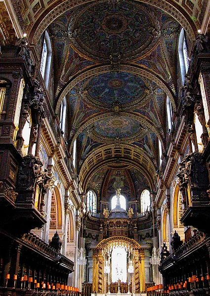 Interior of St Paul's Cathedral - London attractions