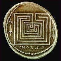 labyrinth coin Knossos Crete