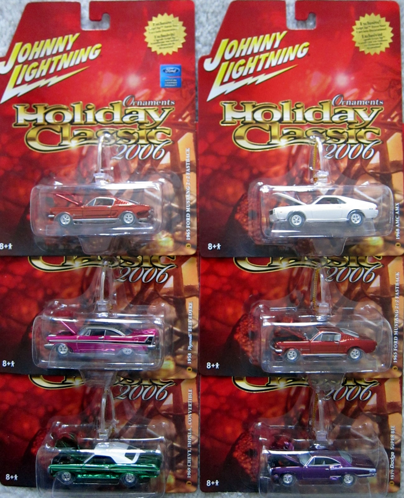 Mytoycars Johnny Lightning Holiday Classic Part Two 1968 Dodge Dart Colors The 12 Car Set All Had Chrome Finished In Various And Instead Of Plastic Wheels They Rubber Tires