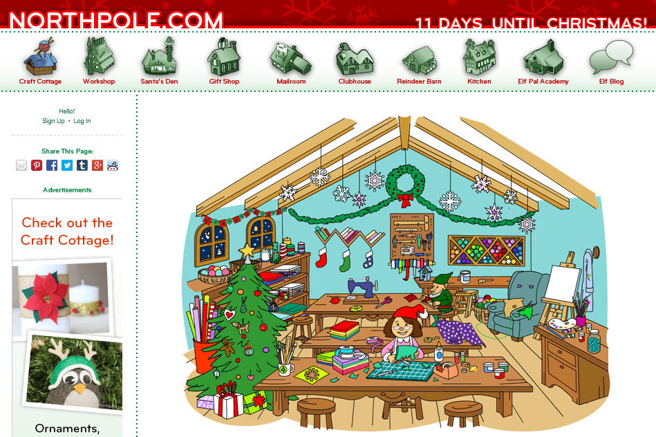 http://www.northpole.com/CraftCottage/