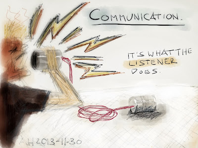Communication. It's what the listener does.