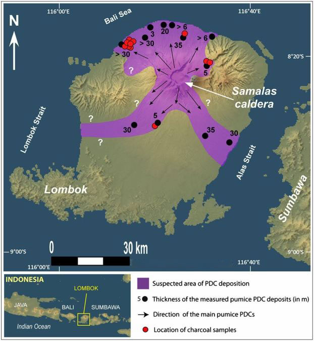Rinjani Samalas eruption