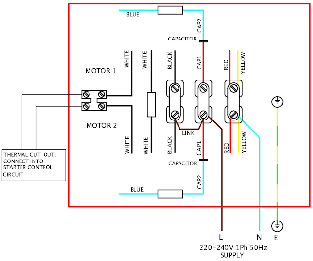 V single phase motor wiring diagram elec eng world
