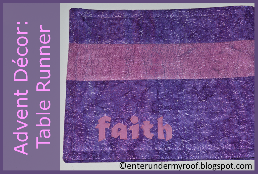 celebrating advent decorating table runner placemats