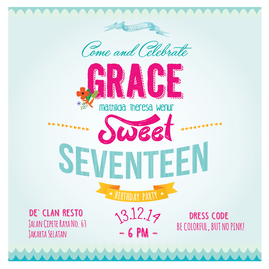Sweet 17 Birthday Invitation Amazing Invitation Template Design