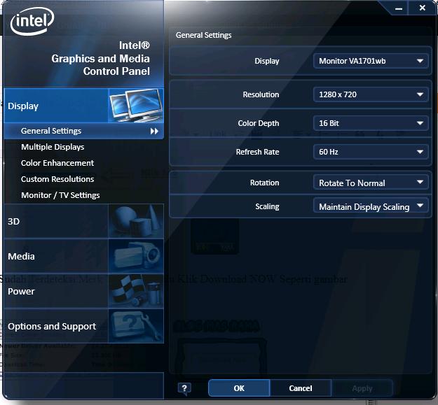 Cara Mengupdate VGA Intel , Nvidia Dan Ati Radeon