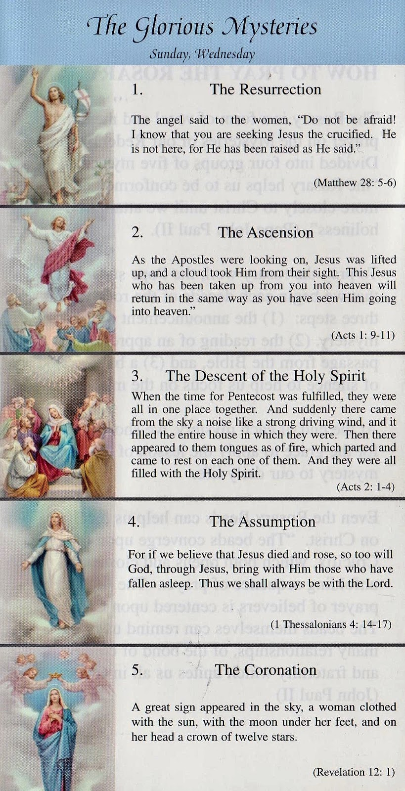 Stupendous image throughout mysteries of the rosary printable
