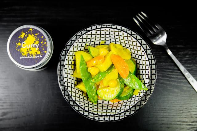 Kartoffel Curry Gericht mit Gemüse Rezept