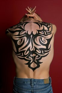 Black Tribal Tattoo for Men