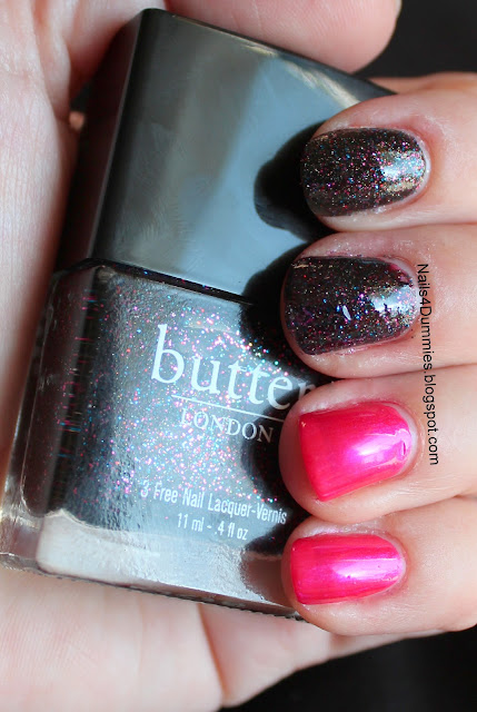 butter LONDON and Pomegranate swatches