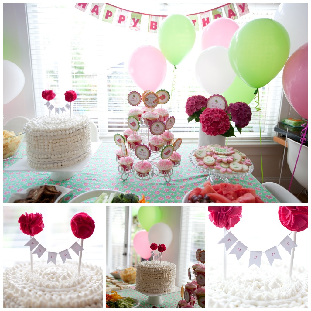 Modern Mommy: Poppy's 1st Birthday Party