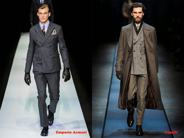 Tendencia otoño_invierno 2013-14 traje sastre con chaqueta doble botonadura: Emporio Armani y Canalli