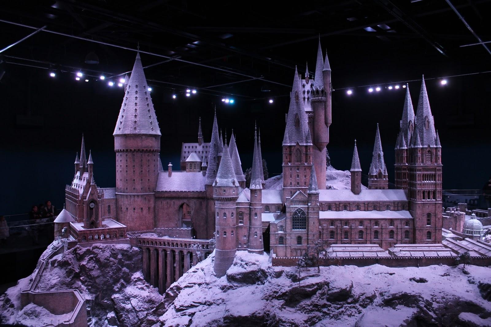 Harry Potter studio tour london Hogwarts model