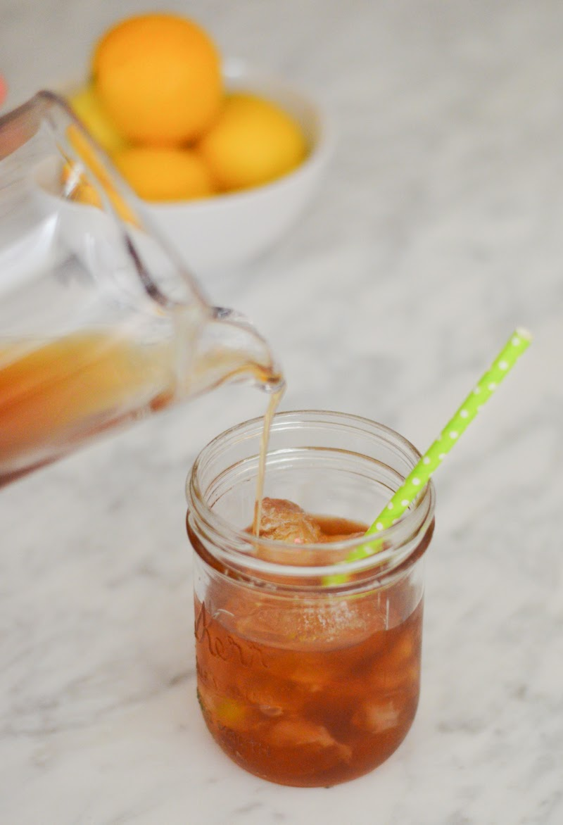 Tropical Peach and Mint Green Iced Tea Recipe | Luci's Morsels