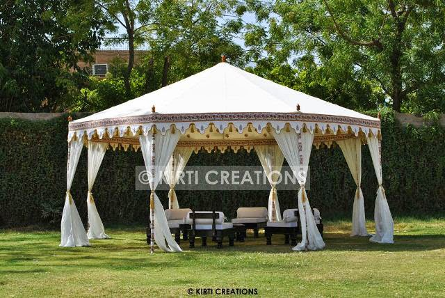 Outdoor Wedding Tents -This kind of Wedding Tent is pole supported wedding tent that means its is stand by with the support of side poles and ropes. & Raj Tent-Tent Manufacturers: Wedding Tents And Its Various Types