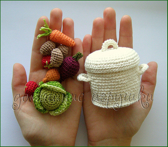 Crocheting Vegetables : ... ??????? ???? ??????.Crocheted fruits and vegetables