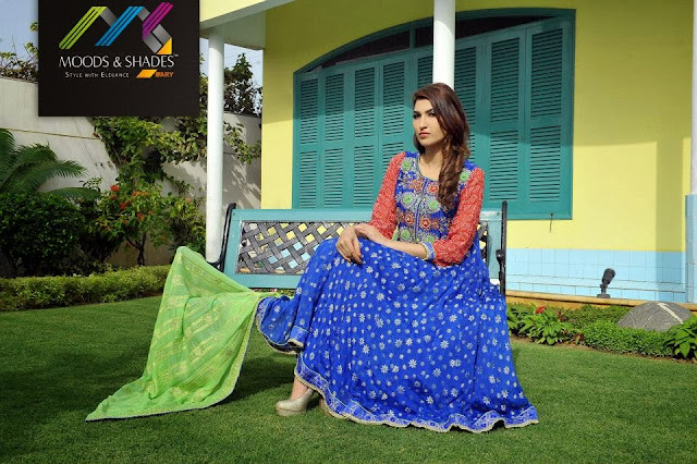 Moods & Shades New Stylish Winter Party Dresses Collection For Women And Girls Fashion 2013-2014