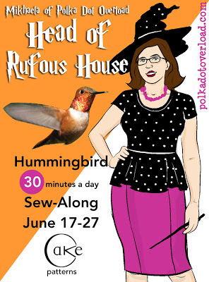 Cake Patterns Hummingbird Sew-Along: Head of Rufous House