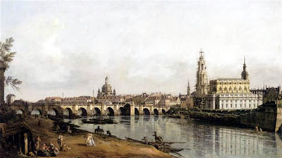 """""""Dresde desde la orilla derecha del Elba"""" por Canaletto"""