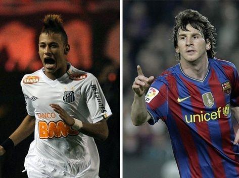 Neymar x Messi, Barcelona x Santos