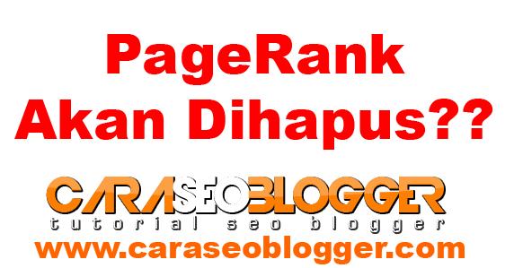 Sistem PageRank di Hapus Google?