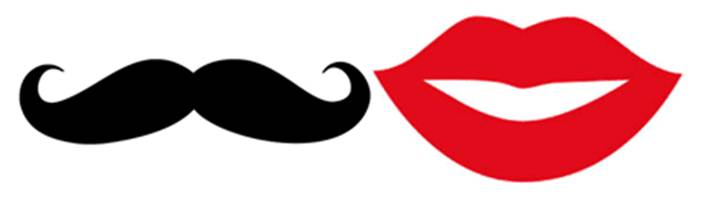 Terrible image within printable mustache and lips