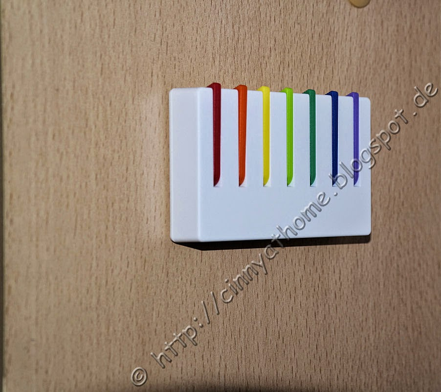 Kleine Hakenleiste Regenbogen - Schlüsselboard und Mini-Garderobe