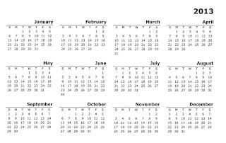 Calendar 2013 simplu