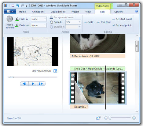 Splitting video in Windows Live Movie Maker - Windows