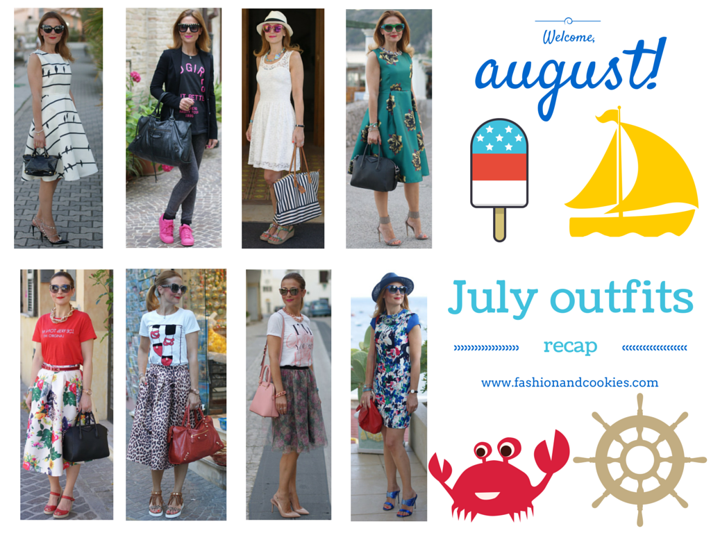 Welcome august, my July outfits recap on Fashion and Cookies fashion blog, fashion blogger style