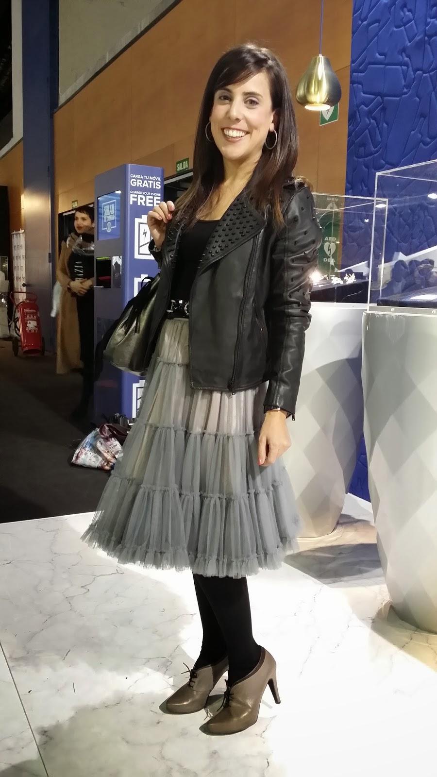 Cibelespacio, moda, desfiles, EGO, blog de moda, con falda de tul gris