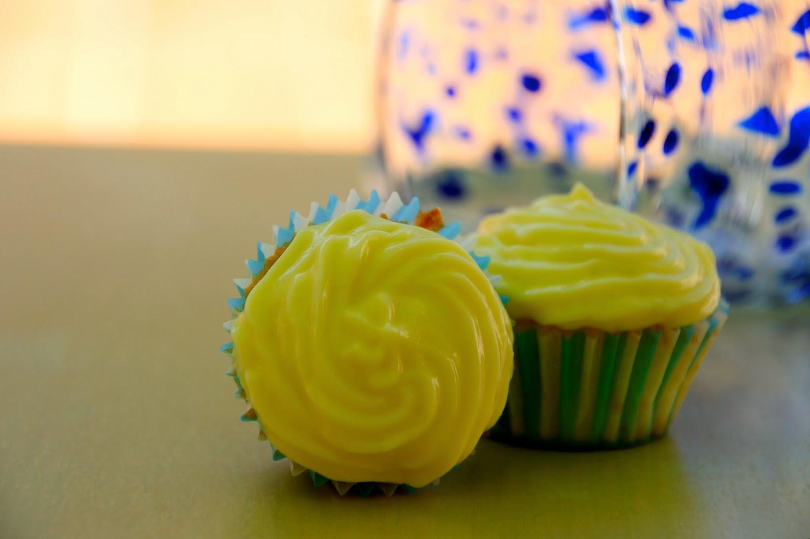 Cupcakes de mandarina amb xips de xocolata