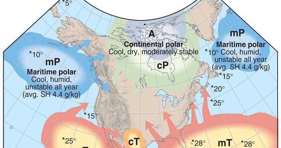 It Rains It Pours The Weather Of Seattle Washington Seattle - Air masses map of us hot dry cool moist