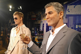 Brad Pitt, George Clooney and Vera visiting Grevin Seoul casino  | www.meheartseoul.blogspot.sg