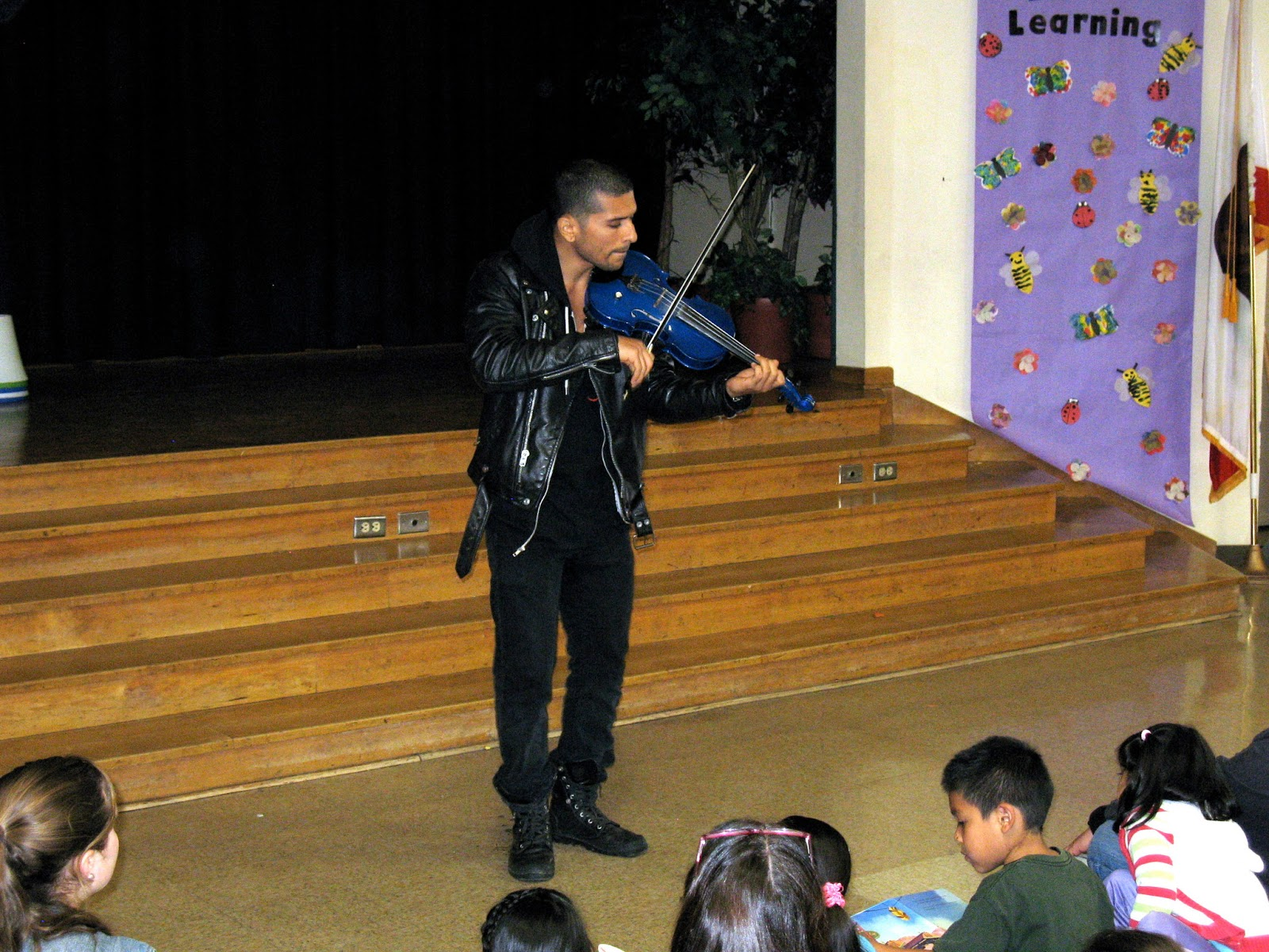 Quetzal Guerrero performs at Magnolia Elementary on March 9th, 2013