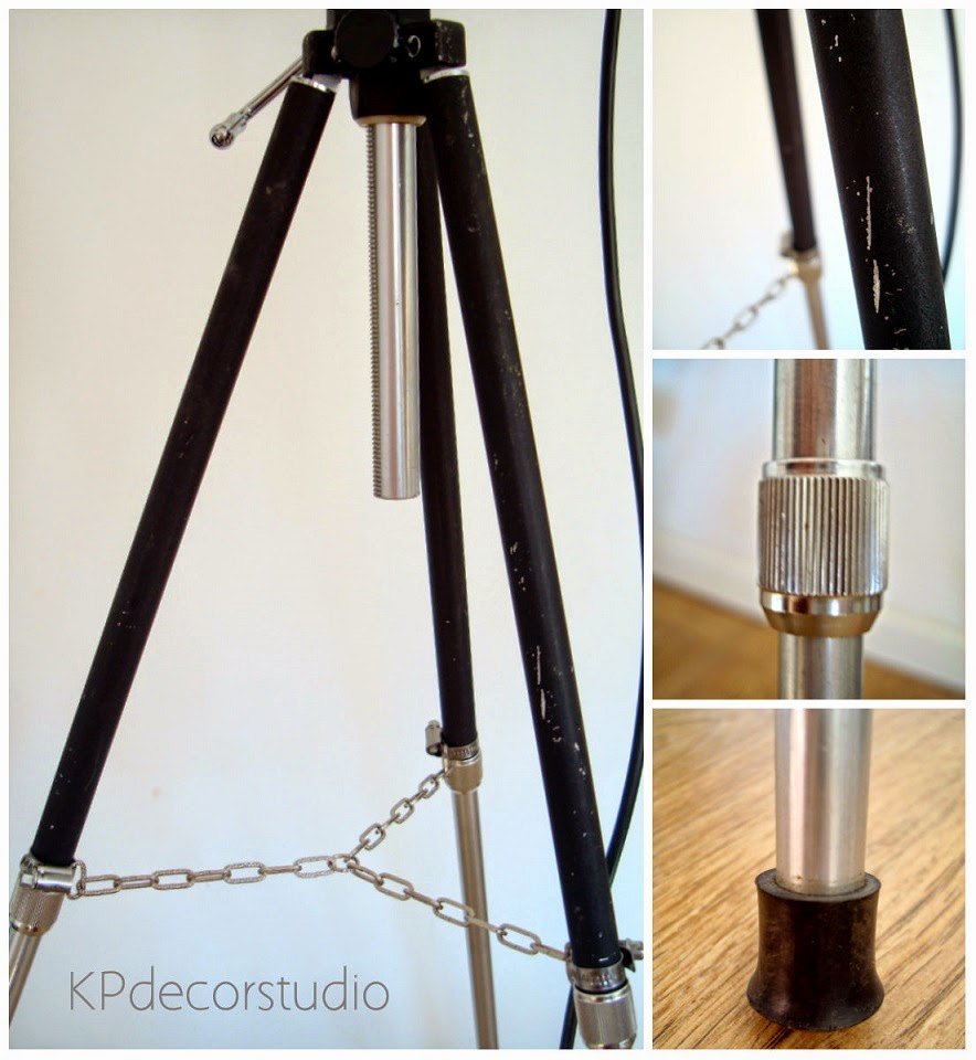 Lámpara vintage con trípode