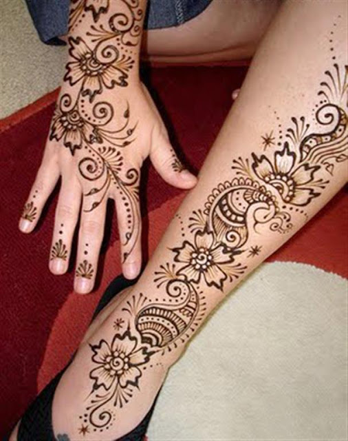 Hand And leg Mehndi designs