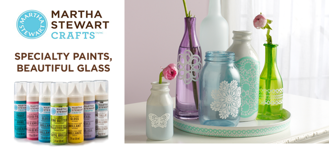 Paper lane martha stewart craft paints and more for Martha stewart glass paint colors