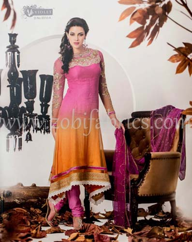 Zobi Fabrics Latest Party Wear Outfits Collection 2013 For girls Women 17 - Zobi Fabrics Latest Party Wear Outfits