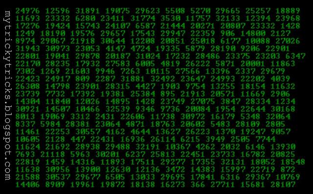 Falling Matrix Code Effect - Create Using Notepad, falling matrix, falling numbers