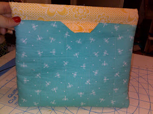 Quilted Firefly Cosmetic or Carry-all Bag