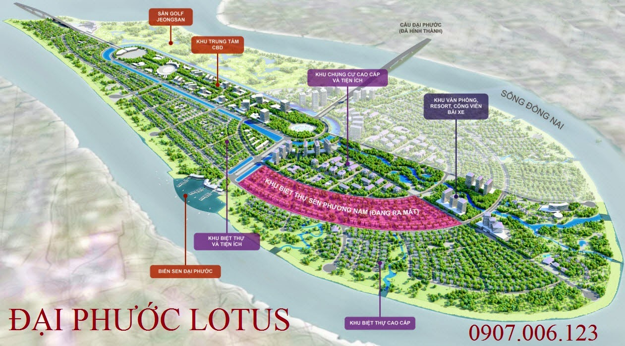 Biệt thự Sen Phương Nam - Đảo Đại Phước Lotus