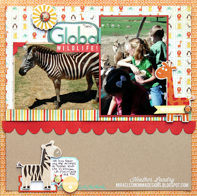 Scrapbook Page_Zoo_Zebra_Wildlife