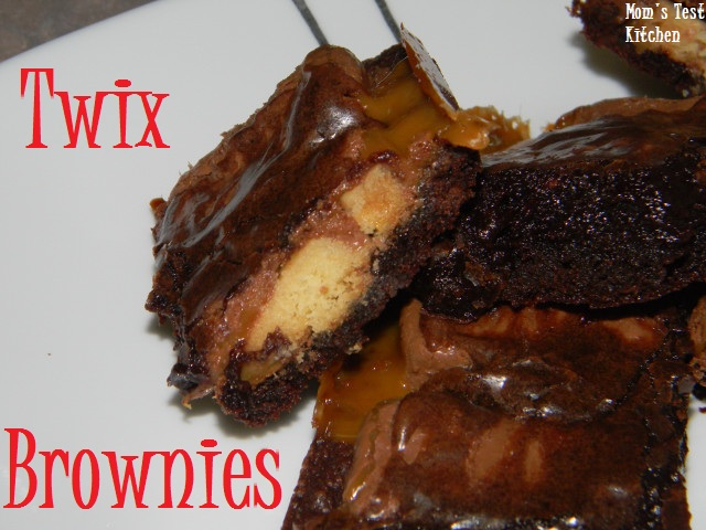 Twix Brownies - Mom's Test Kitchen