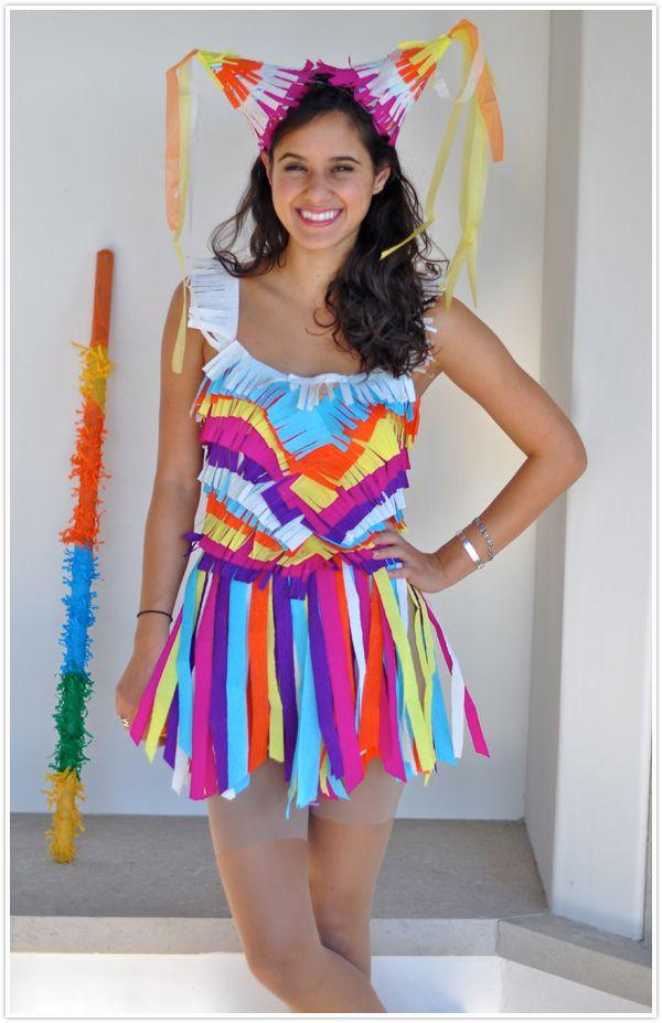 Disfraz de Piñata mexicana facil de hacer